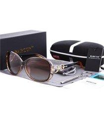 gafas lentes sol mujer barcur ovaladas polarizadas uv400 8115 café