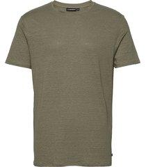 coma linen t-shirt t-shirts short-sleeved groen j. lindeberg