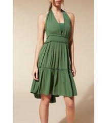 calzedonia fabric mini dress woman green size tu
