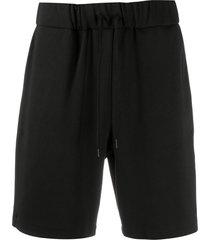 a.p.c. drawstring track shorts - black
