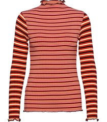 5x5 stripe mix trutte t-shirts & tops long-sleeved rood mads nørgaard