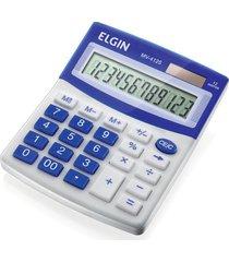 calculadora de mesa elgin visor com 12 digitos azul