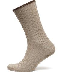 egtved, no elastic, rib, wool, underwear socks regular socks beige egtved