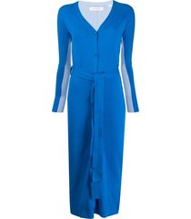 chinti and parker two-tone belted cardi-coat - blue
