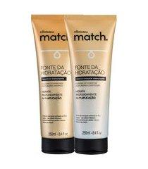 combo match fonte da hidratação: shampoo + condicionador