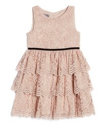 pippa & julie kids' sleeveless tiered lace dress, size 7 in blush at nordstrom