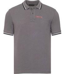 brand new mens prada dark gray signature cotton polo shirt