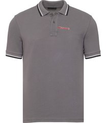 brand new mens prada dark gray signature cotton polo shirt
