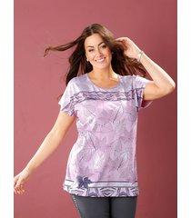 shirt m. collection roze::grijs