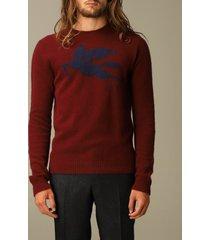 etro sweater etro wool sweater with jacquard pegasus