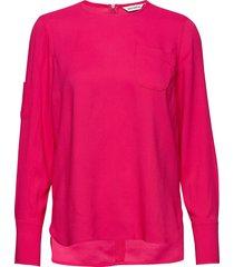 hako solid shirt blus långärmad rosa marimekko