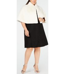 betsey johnson plus size faux-fur shrug