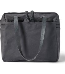 filson rugged twill tote bag with zipper - cinder 20112028