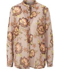 blouse met lange mouwen en bloemenprint van uta raasch multicolour