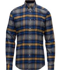 barbour endsleigh highland check skjorta casual blå barbour