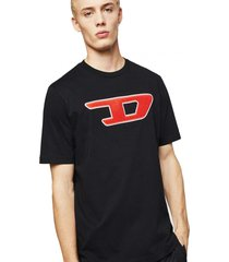 polera t just division d t shirt negro diesel