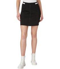 minifalda de punto milano con cremallera negro calvin klein