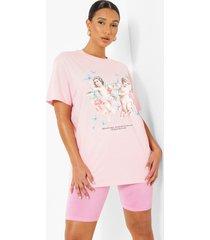 oversized kerub vlinder t-shirt, pale pink