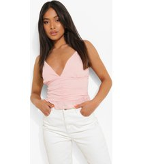 petite geweven geplooid hemdje, light pink