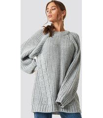 trendyol oversized knitted sweater - grey