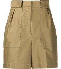 sandro paris high waisted bermuda shorts - neutrals