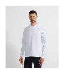 camiseta esportiva térmica   get over   branco   gg