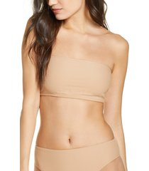 women's frankies bikinis jenna bikini bottoms, size large - beige