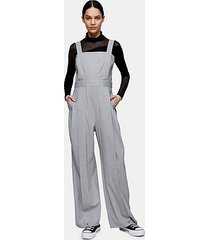 *grey pleated hem jumpsuit with wool by topshop boutique - light grey