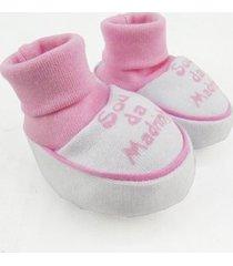 pantufa bebê feminina suedine sou da madrinha rosa - feminino
