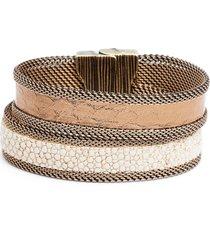 women's cynthia desser shimmer stingray & snakeskin bracelet