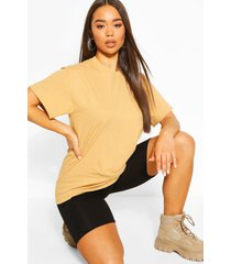 basic oversized boyfriend t-shirt, camel
