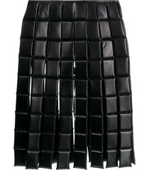 a.w.a.k.e. mode quilted square midi skirt - black