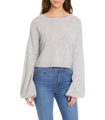 women's alice + olivia ansley bishop sleeve cashmere pullover