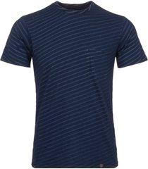 rag & bone indigo james striped t-shirt m274t12c1