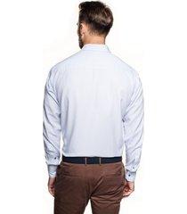 koszula bexley 2093 długi rękaw custom fit niebieski