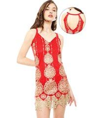 vestido eclipse jaipur rojo - calce ajustado