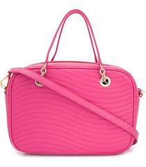 furla swing satchel bag - pink