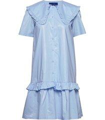 tailor dress knälång klänning blå résumé