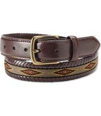 latigo laced ribbon belt, brown, 44
