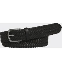tommy hilfiger men's braided leather belt black - 38