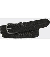 tommy hilfiger men's braided leather belt black - 40