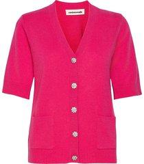 viola stickad tröja cardigan rosa custommade