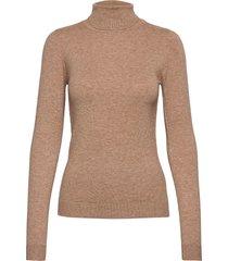 objthess l/s rollneck knit pullover noos turtleneck polotröja brun object