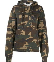 dsquared2 camouflage print hooded sweatshirt - brown