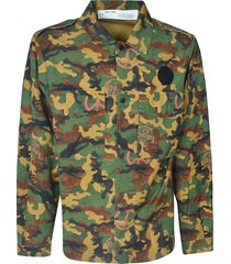 off-white all-over camouflage military shirt