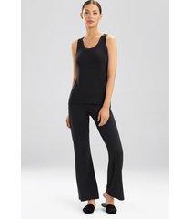 jersey essentials tank pajamas, women's, black, silk, size xs, josie natori