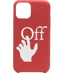 off-white hand off iphone 11 pro case - red