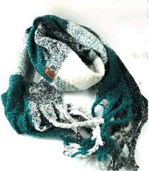 bufanda de lana azul niba