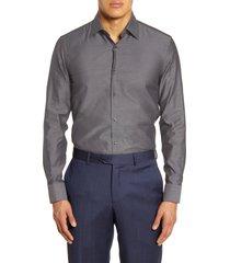 men's boss slim fit solid dress shirt