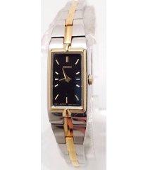 seiko ladies two tone stainless dress watch szzc42